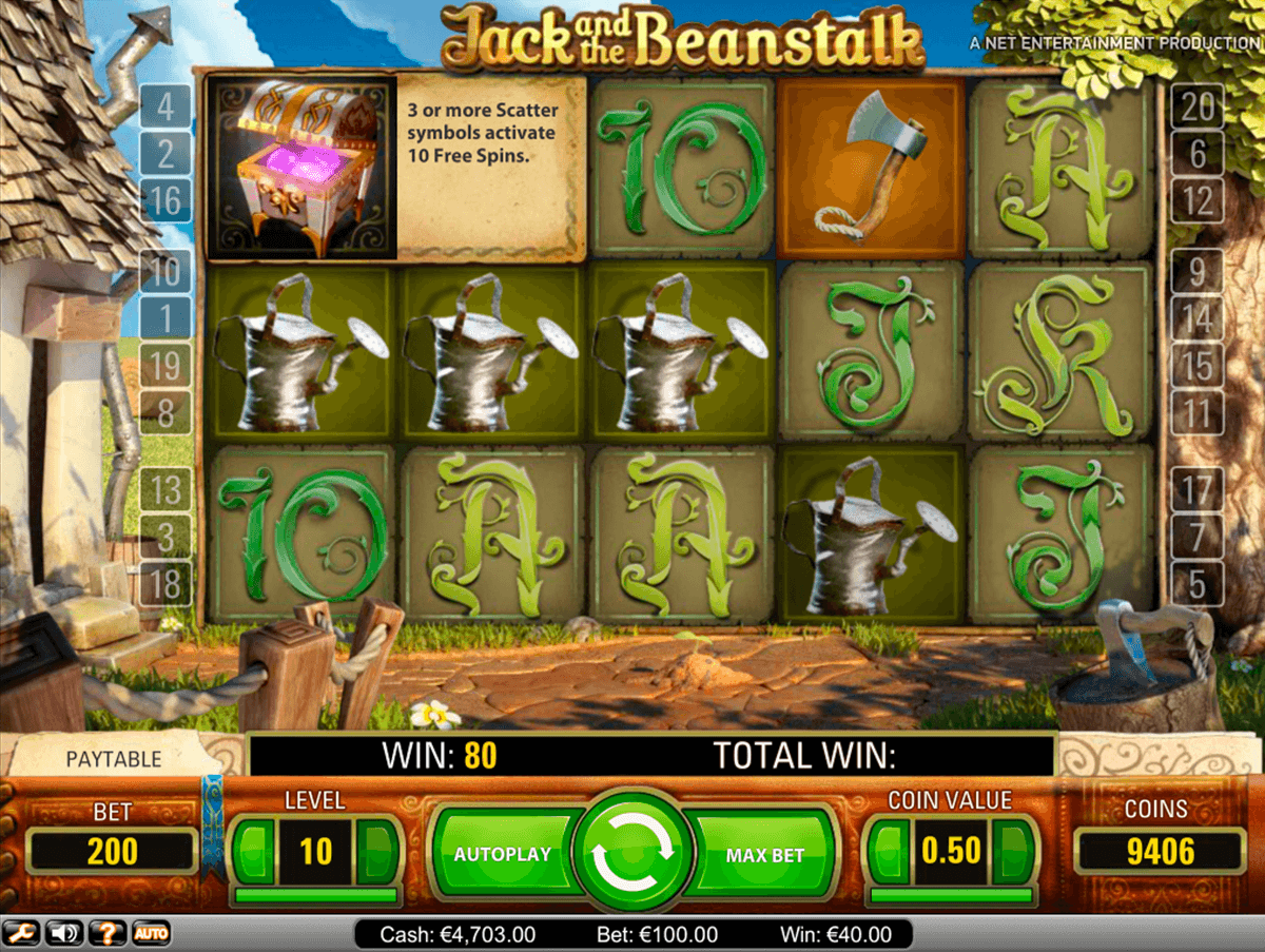 jack and the beanstalk netent slot machine