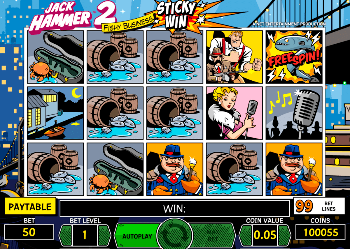 jack hammer 2 netent slot machine