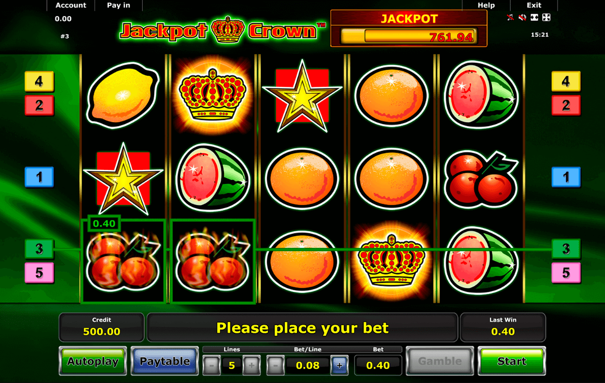 jackpot crown novomatic slot machine