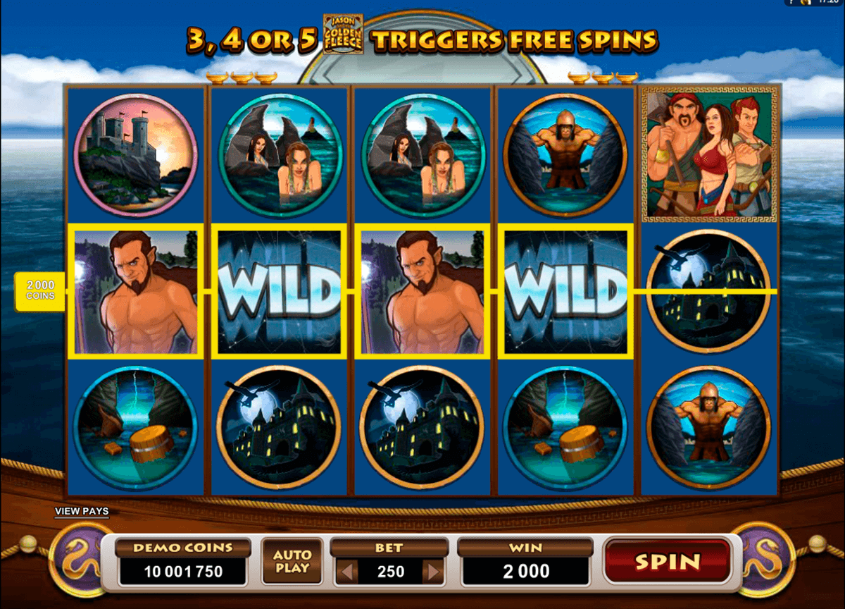 jason and the golden fleece microgaming slot machine