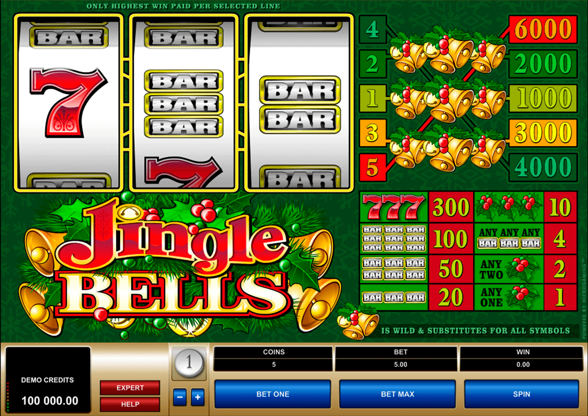 jingle bells microgaming slot machine