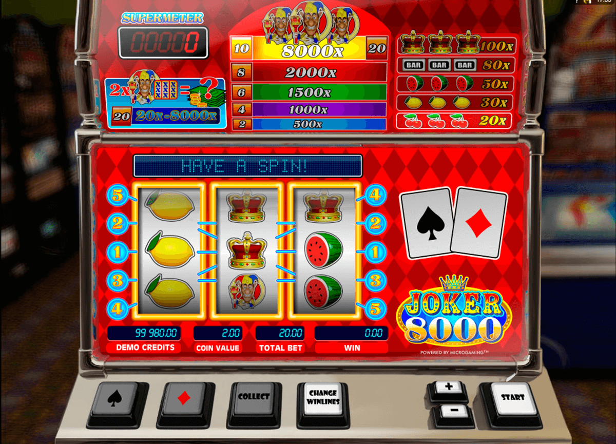 joker 8000 microgaming slot machine