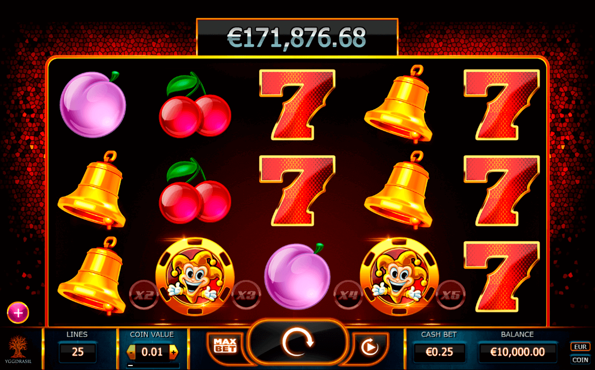 joker millions yggdrasil slot machine