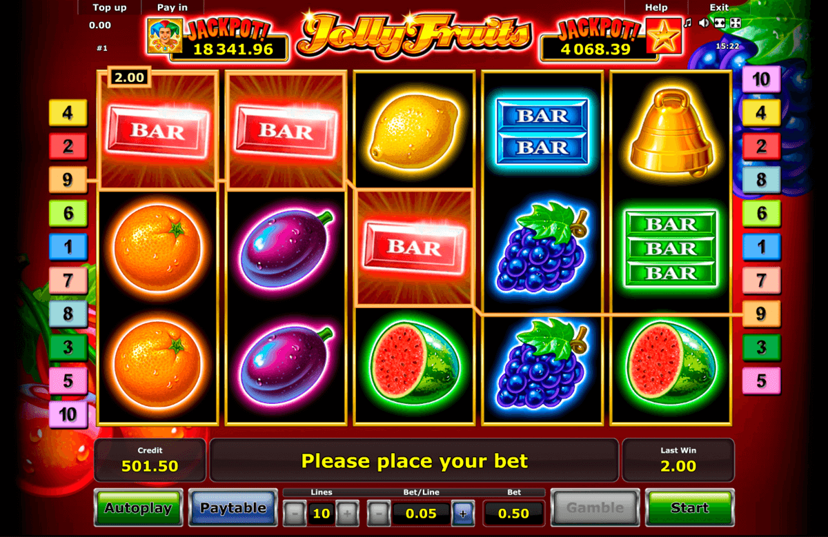 jolly fruits novomatic slot machine