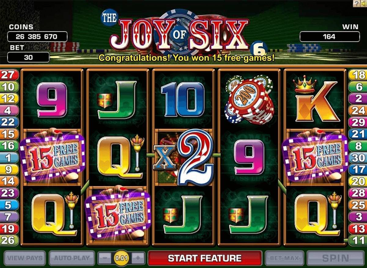 joy of six microgaming slot machine
