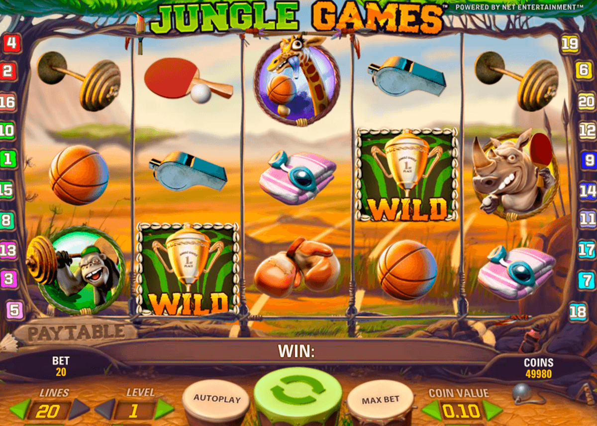 jungle games netent slot machine