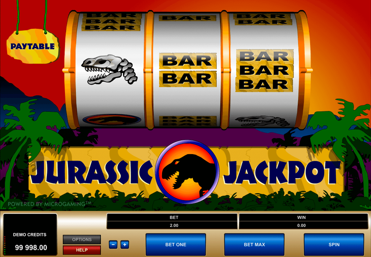 jurassic jackpot microgaming slot machine