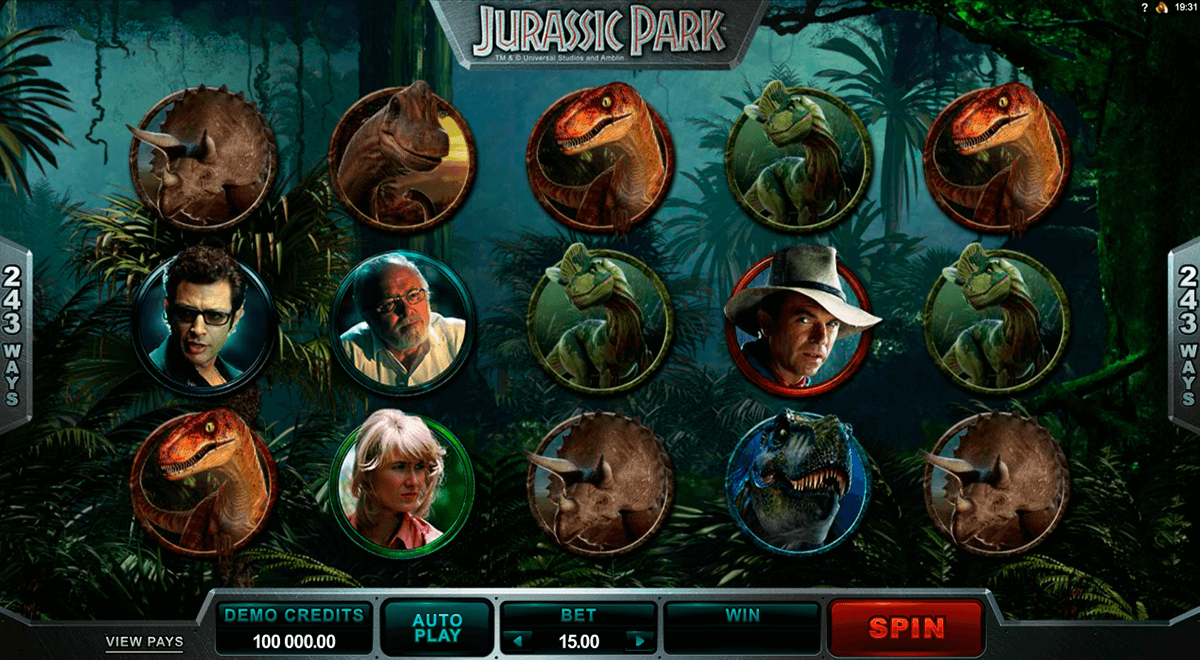 jurassic park microgaming slot machine