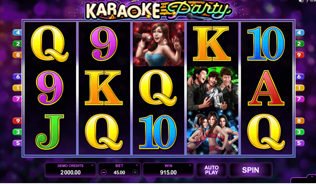 karaoke party microgaming slot machine