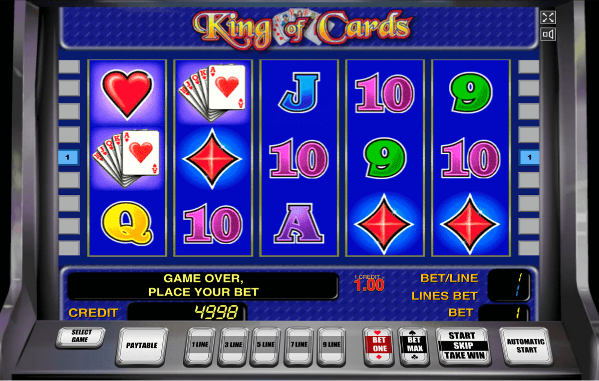 king of cards novomatic slot machine
