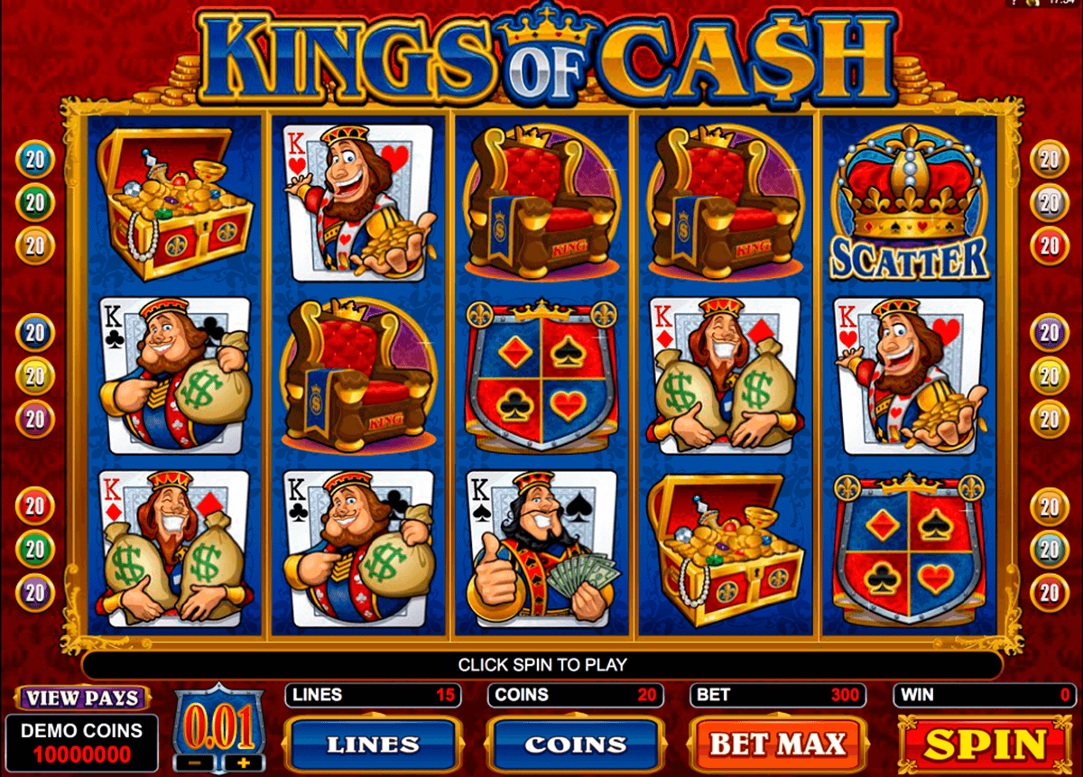 kings of cash microgaming slot machine
