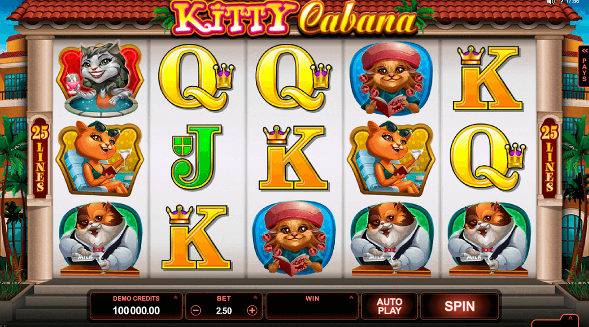 kitty cabana microgaming slot machine