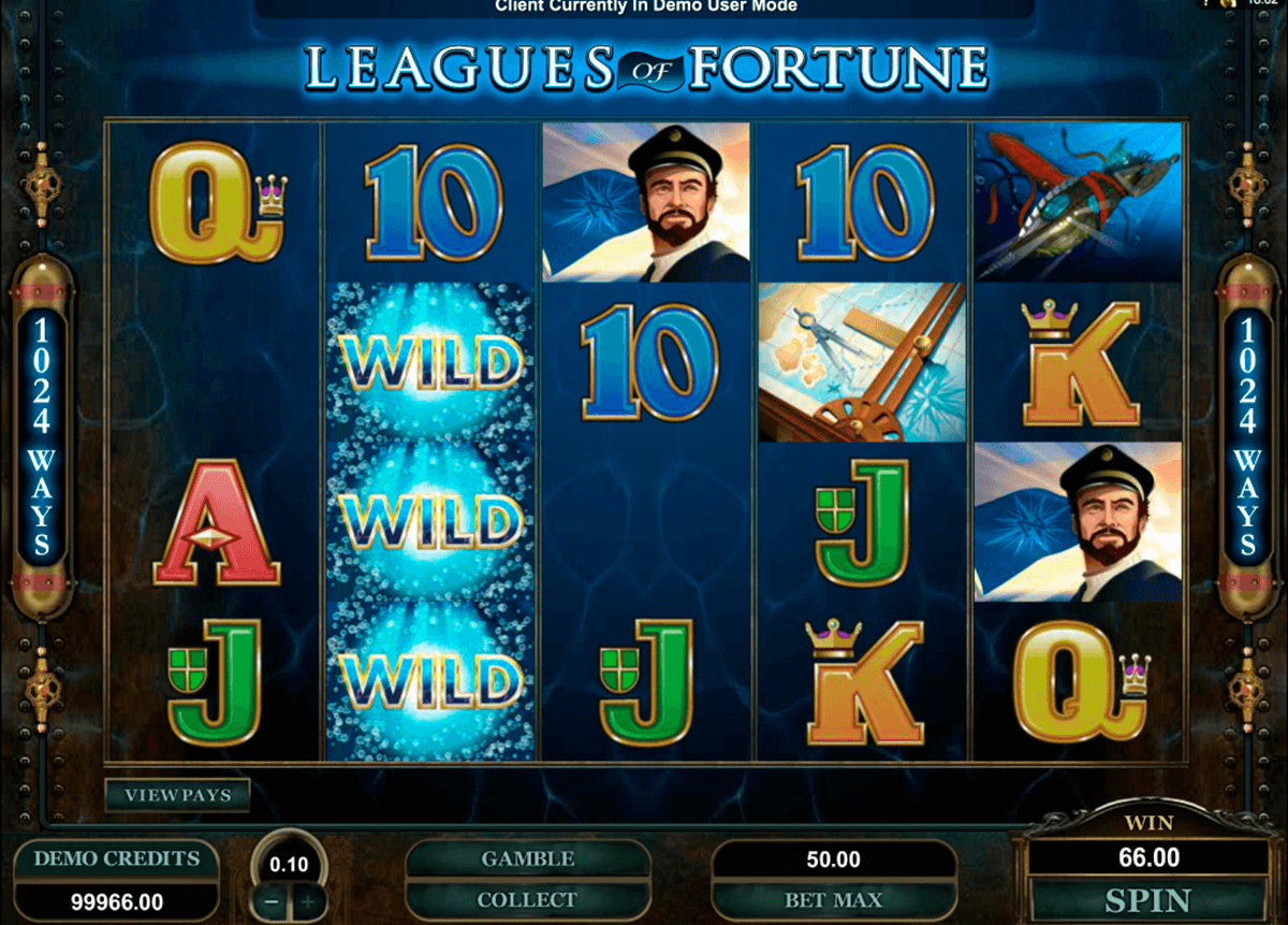 leagues of fortune microgaming slot machine
