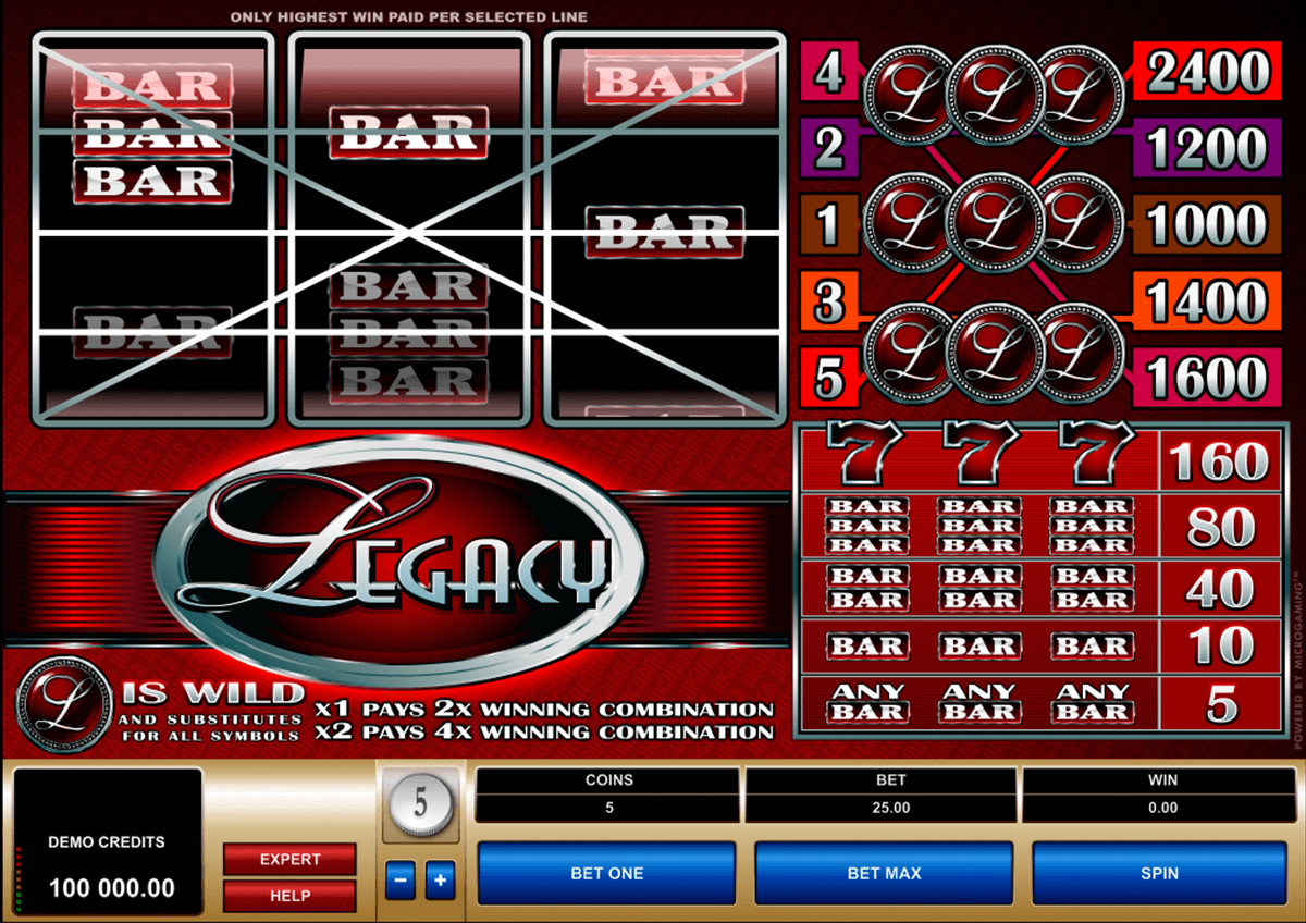 legacy microgaming slot machine