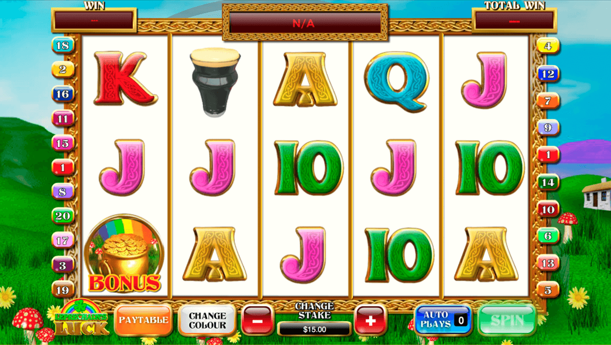 leprechauns luck playtech slot machine