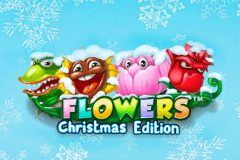 logo flowers christmas edition netent slot online