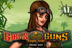 logo girls with guns jungle heat microgaming slot online
