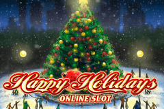 logo happy holidays microgaming slot online