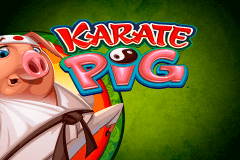 logo karate pig microgaming slot online
