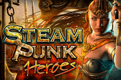 logo steam punk heroes microgaming slot online