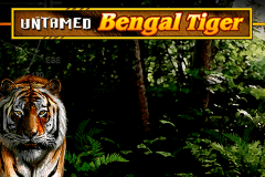 logo untamed bengal tiger microgaming slot online