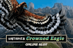 logo untamed crowned eagle microgaming slot online
