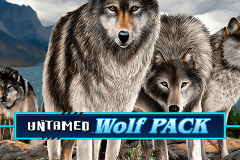 logo untamed wolf pack microgaming slot online