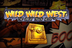 logo wild wild west the great train heist netent slot online