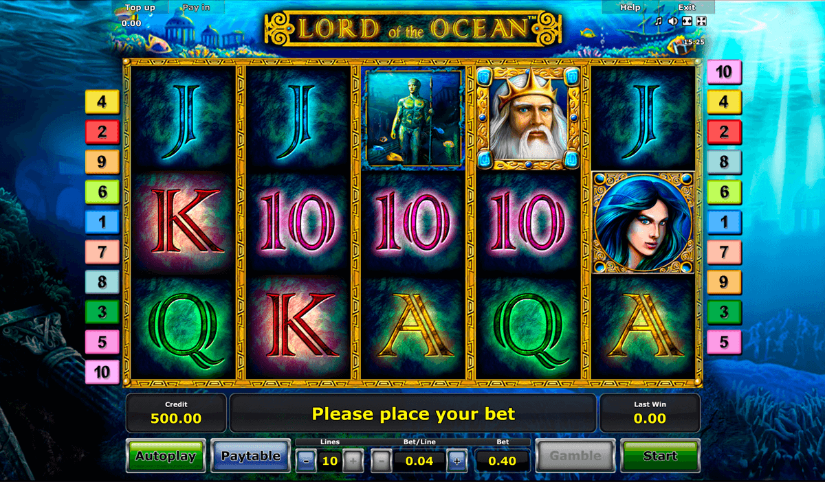 lord of the ocean novomatic slot machine