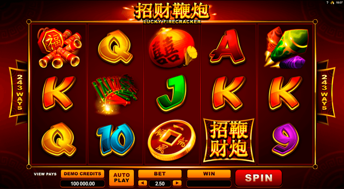 lucky firecracker microgaming slot machine