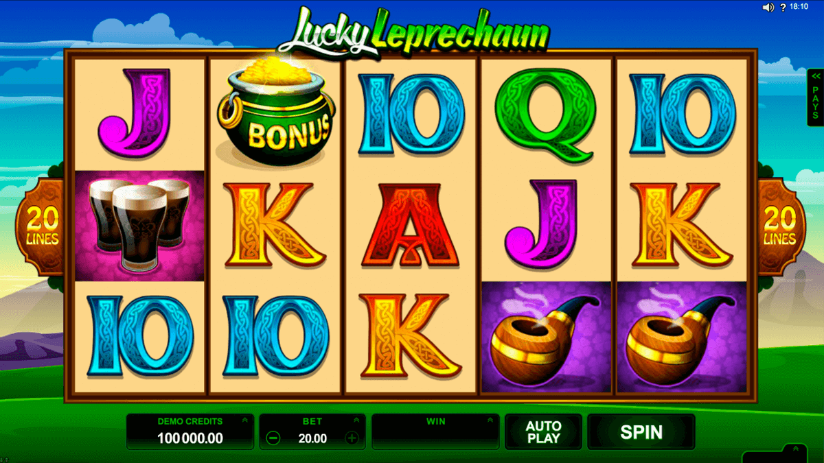 lucky leprechaun microgaming slot machine