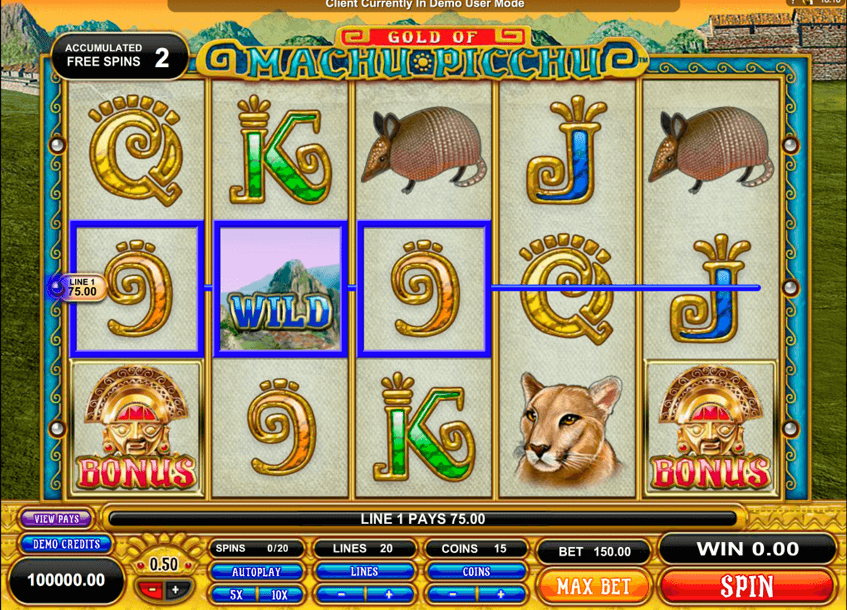 machu picchu microgaming slot machine