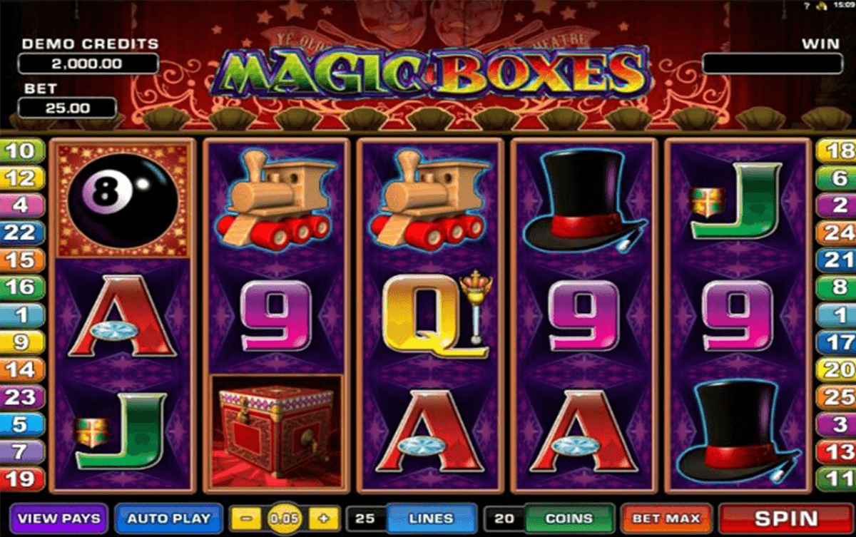 magic boxes microgaming slot machine