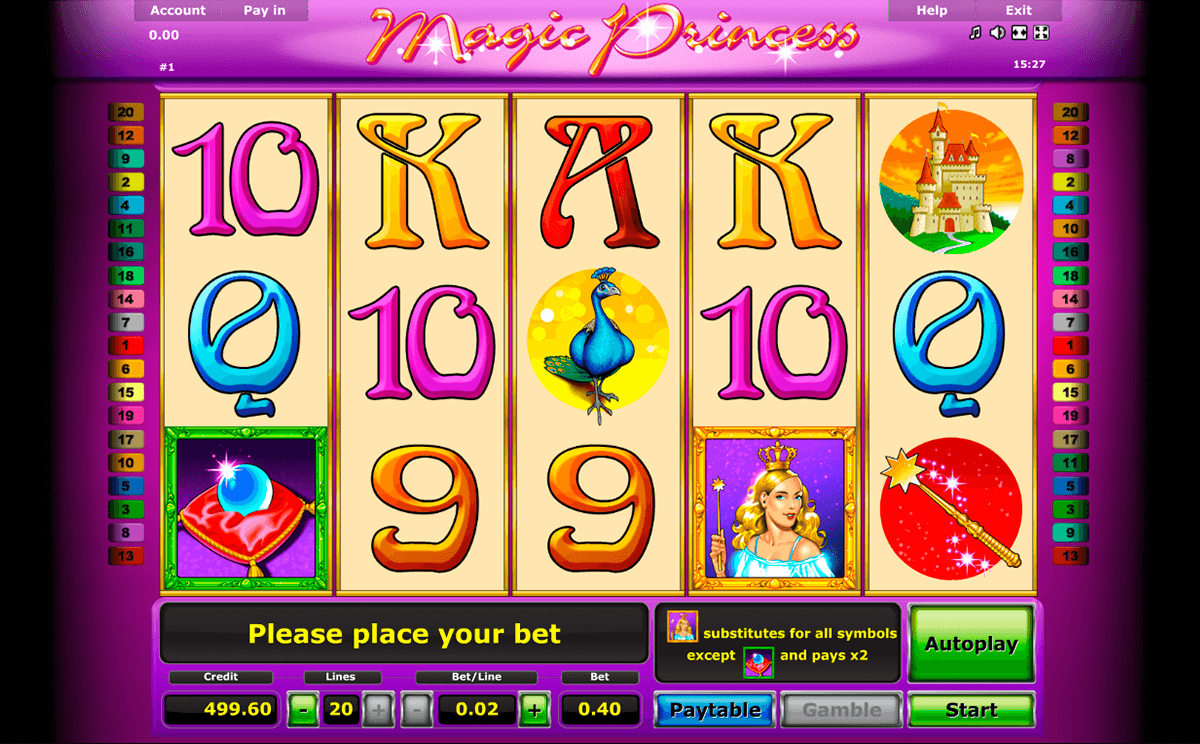 magic princess novomatic slot machine