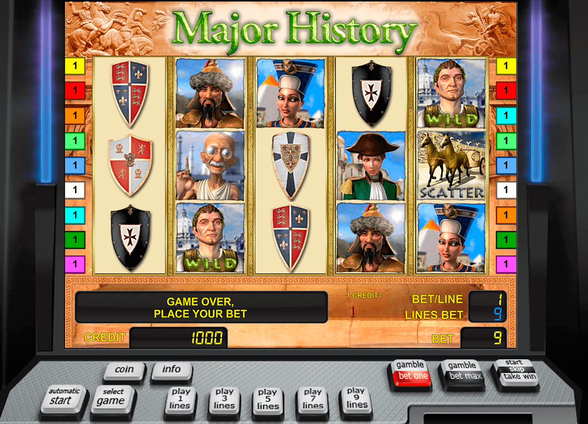 major history novomatic slot machine