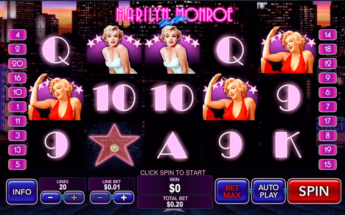marilyn monroe playtech slot machine