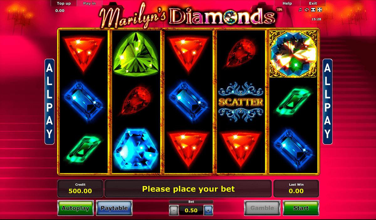 marilyns diamonds novomatic slot machine
