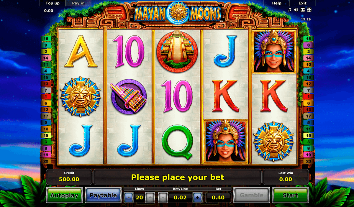 mayan moons novomatic slot machine
