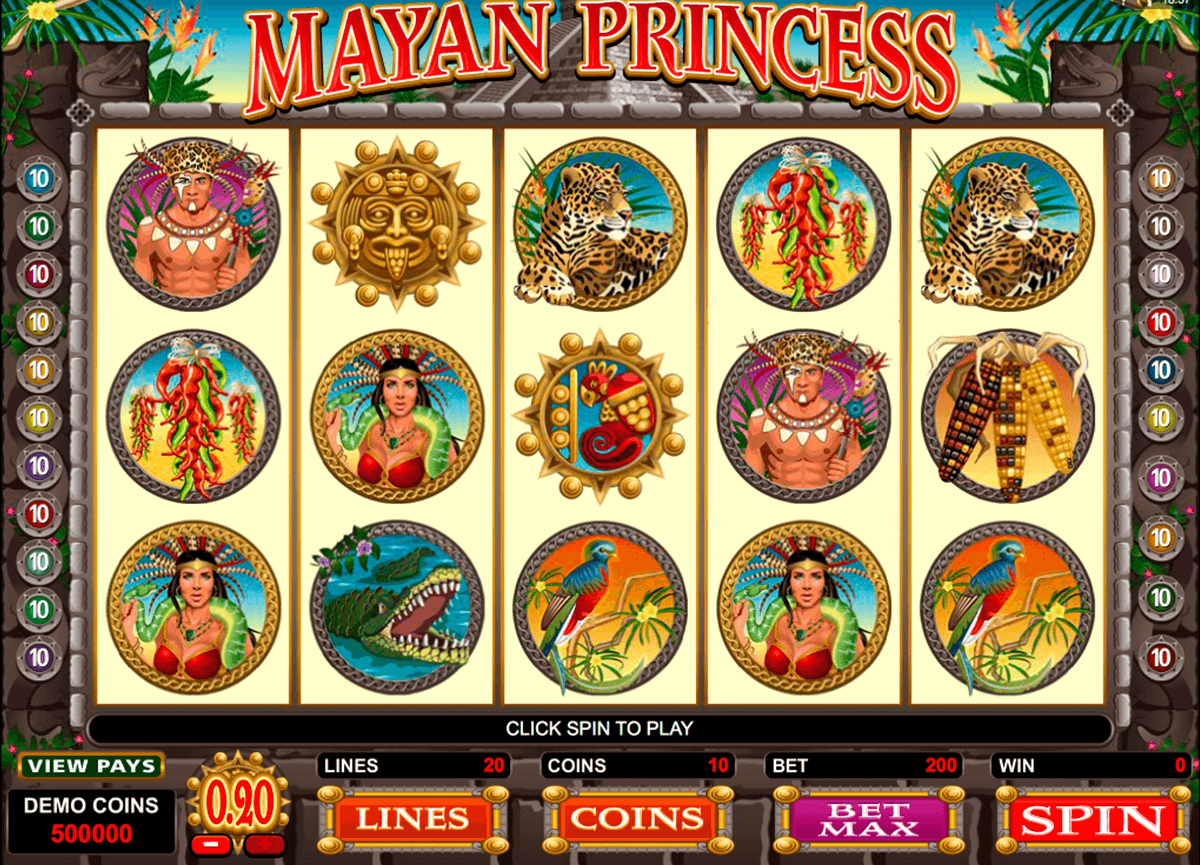 mayan princess microgaming slot machine
