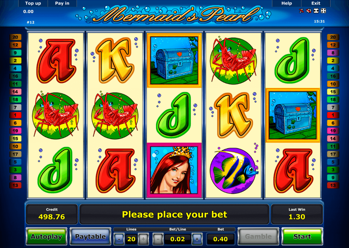 mermaids pearl novomatic slot machine