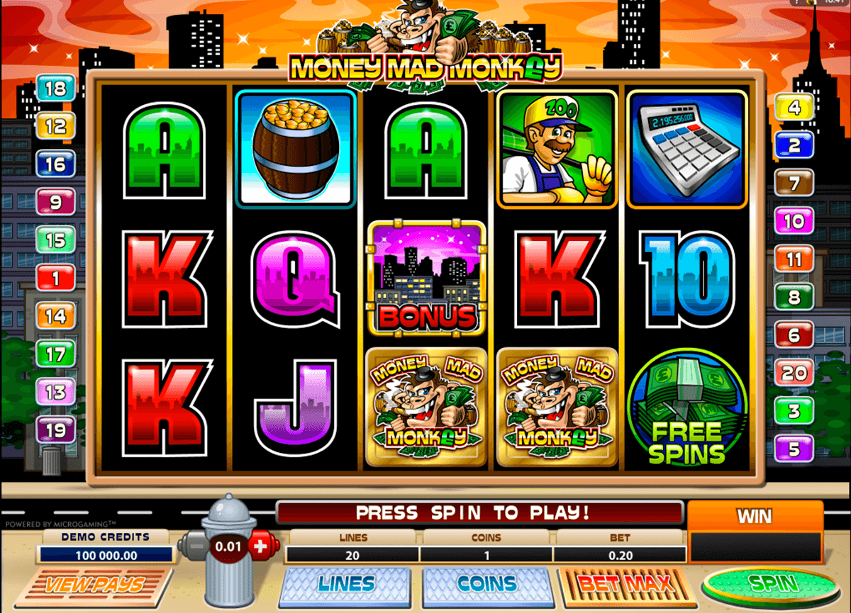 money mad monkey microgaming slot machine