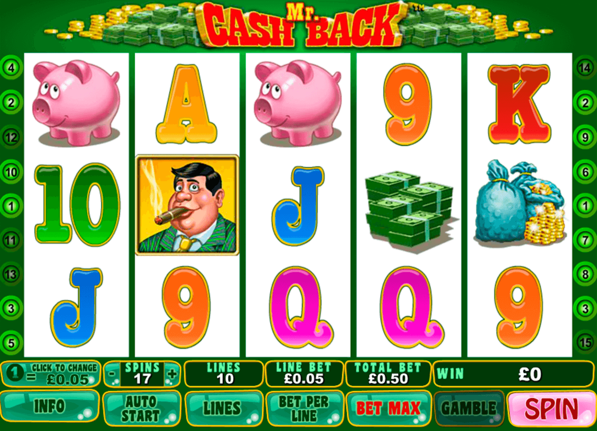 mr cashback playtech slot machine