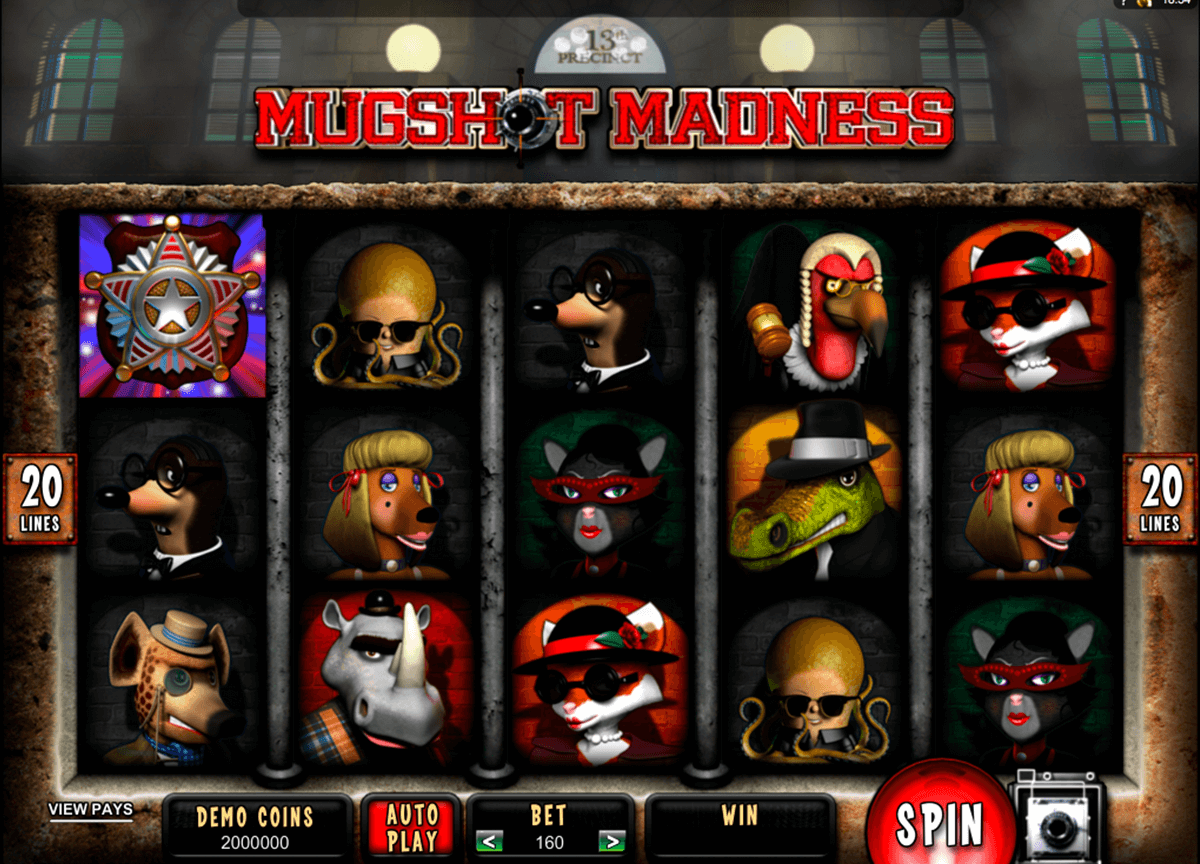 mugshot madness microgaming slot machine