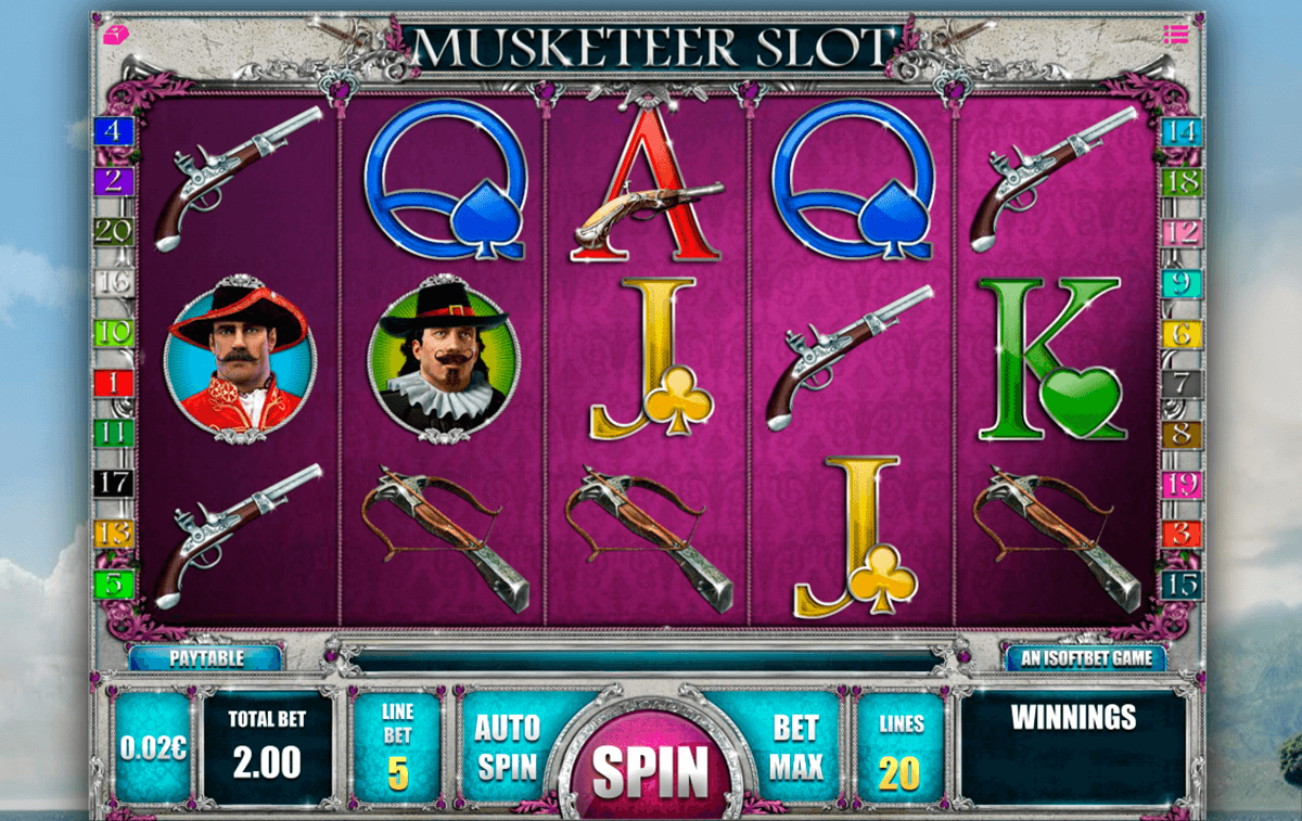 musketeer slot isoftbet slot machine