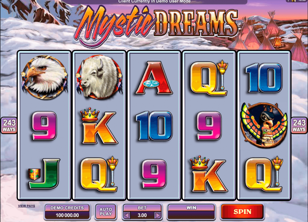mystic dreams microgaming slot machine