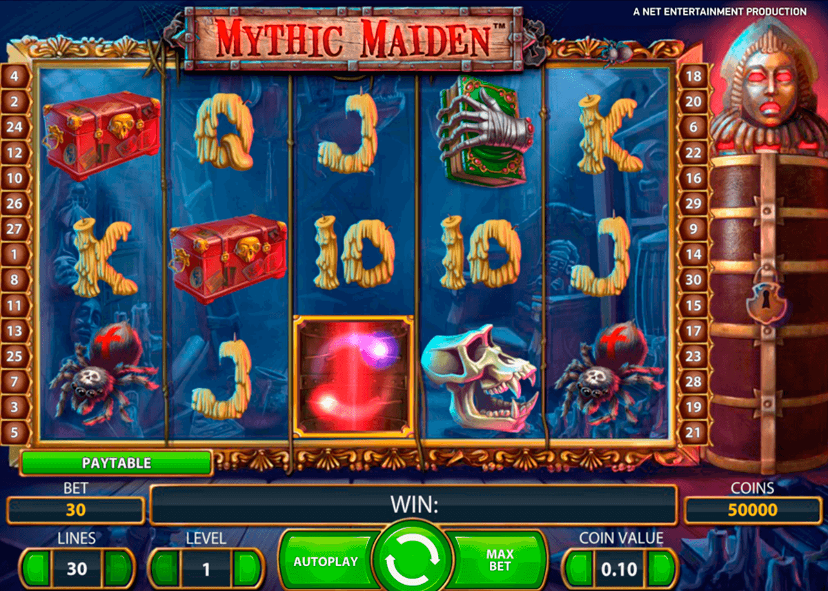 mythic maiden netent slot machine