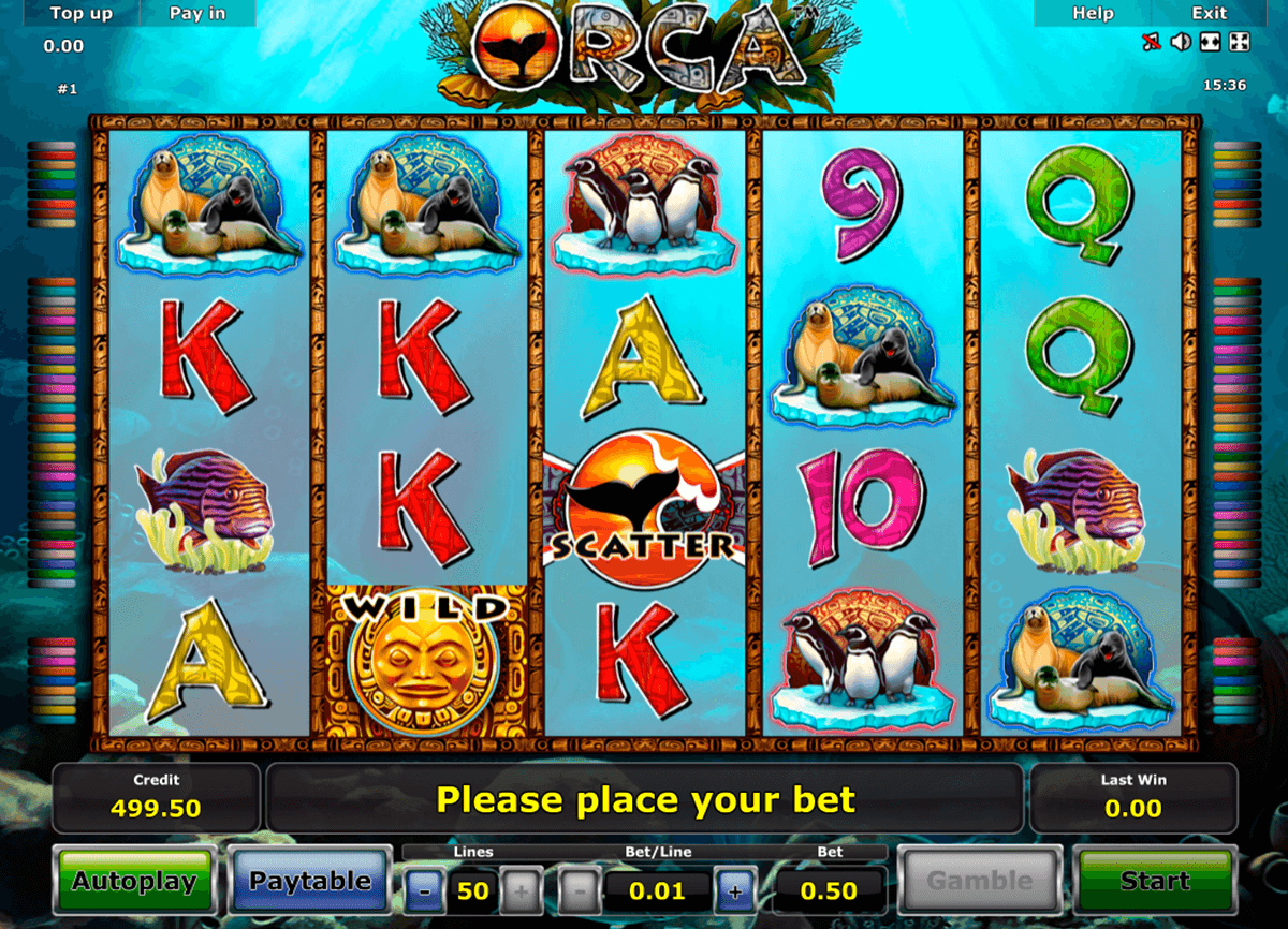 orca novomatic slot machine