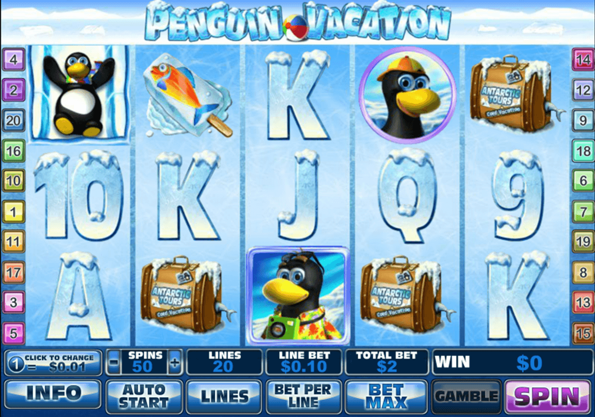 penguin vacation playtech slot machine