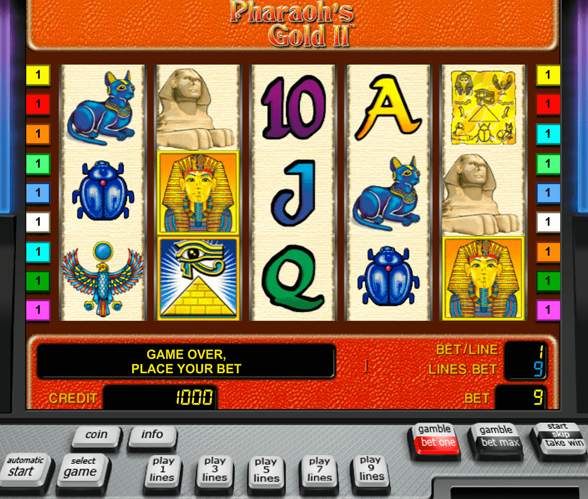 pharaohs gold ii novomatic slot machine