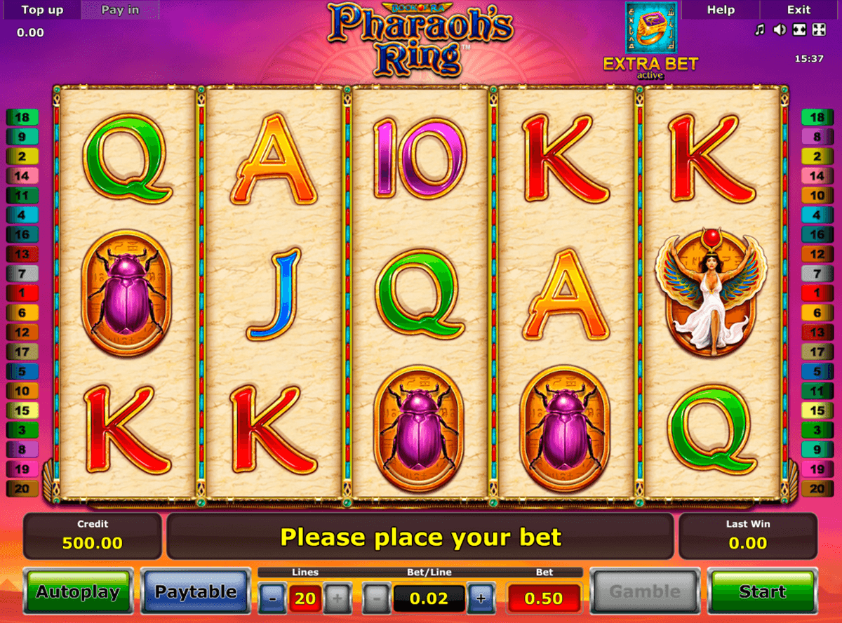 pharaohs ring novomatic slot machine